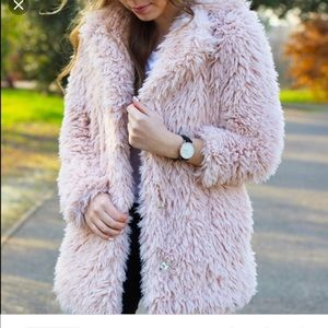 Forever 21 shaggy coat
